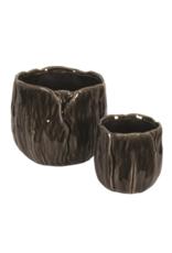 Black Ceramic Tulip Pot