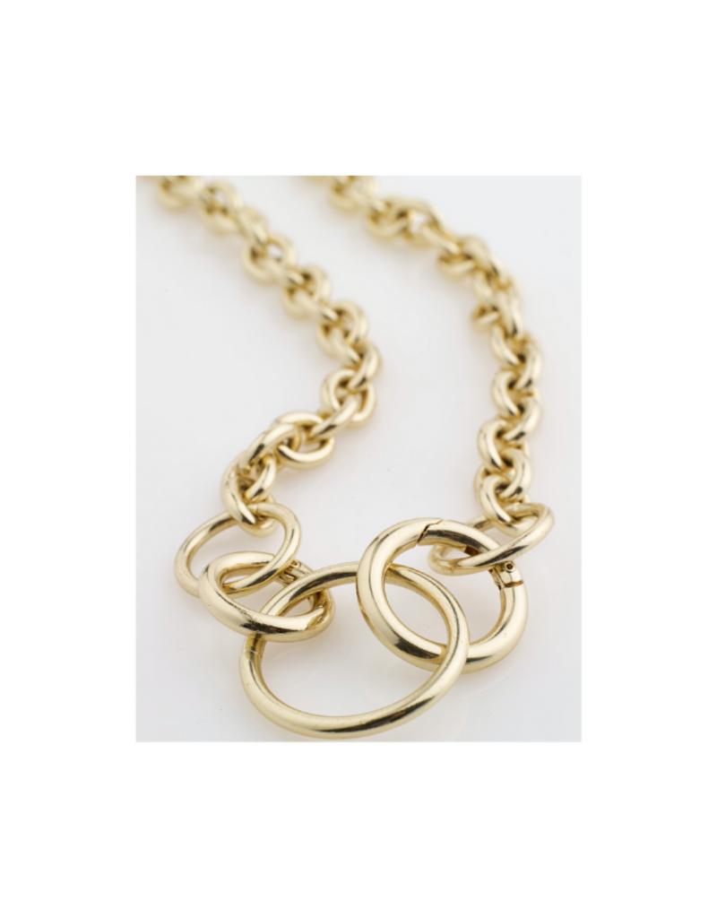 PILGRIM Gold Heritage Necklace 112112001 by Pilgrim