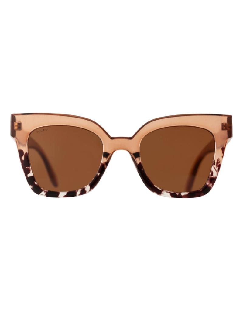 PILGRIM Ellera Brown Sunglasses by Pilgrim