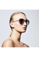 PILGRIM Nani Gold Plated Grey Sunglasses by Pilgrim