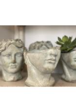 Half-Face Male Head Planter