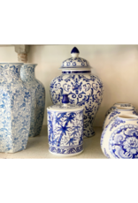 Thea Blue & White Ginger Jar with Lid