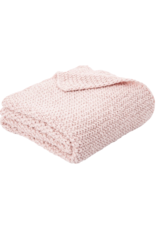 Chunky Pink Knitted Throw