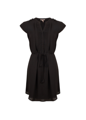 ESQUALO Pintuck Dress in Black by EsQualo