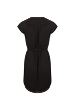 Pintuck Dress in Black by Esqualo