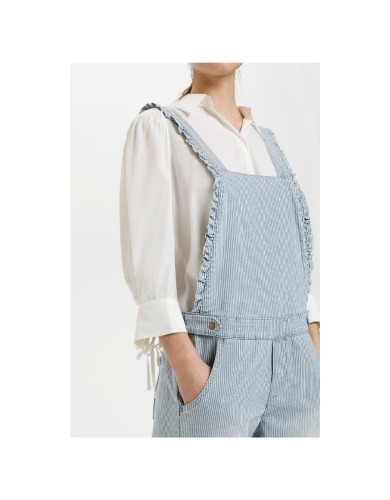 Elsa Overalls in Blue Milkboy Stripe by Cream