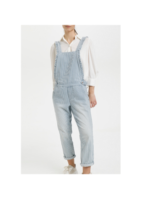 Elsa Overalls in Blue Milkboy Stripe by Cream