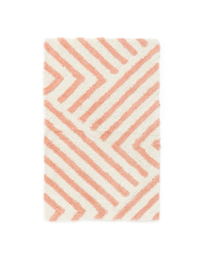 Zig Zag Pink Bathmat