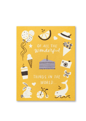 Of All The Wonderful Things Card