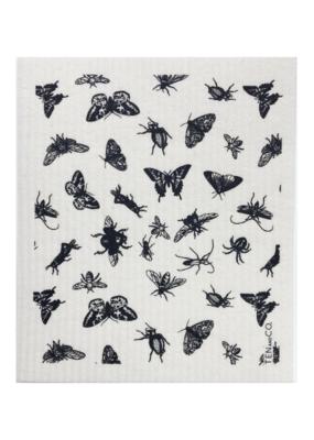 Ten & Co. Swedish Sponge Cloth Bugs Black