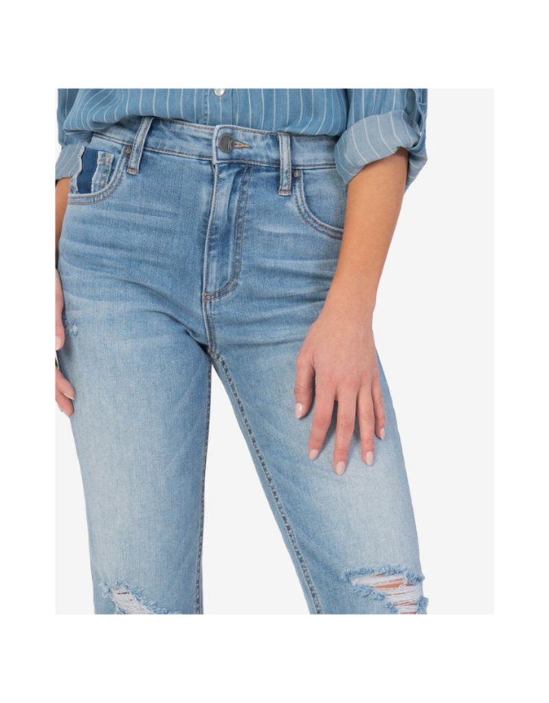 Kut from the Kloth Elizabeth High Rise Crop in Awake Wash by Kut from the Kloth