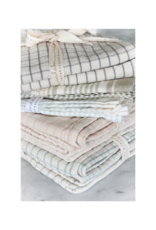 Indaba Trading Set of 2 French Linen Tea Towels in Taupe