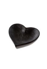 Black Soapstone Heart Dish