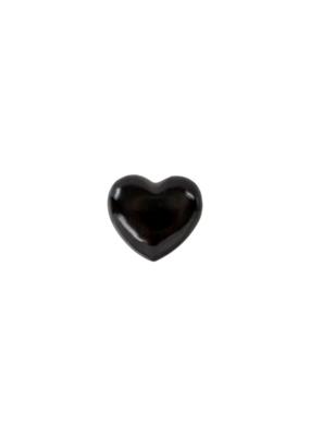 Black Soapstone Mini Heart
