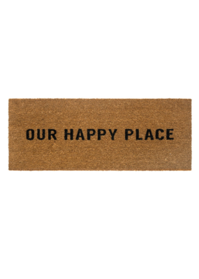Indaba Trading Our Happy Place Doormat