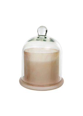 Frosted White Cloche Candle