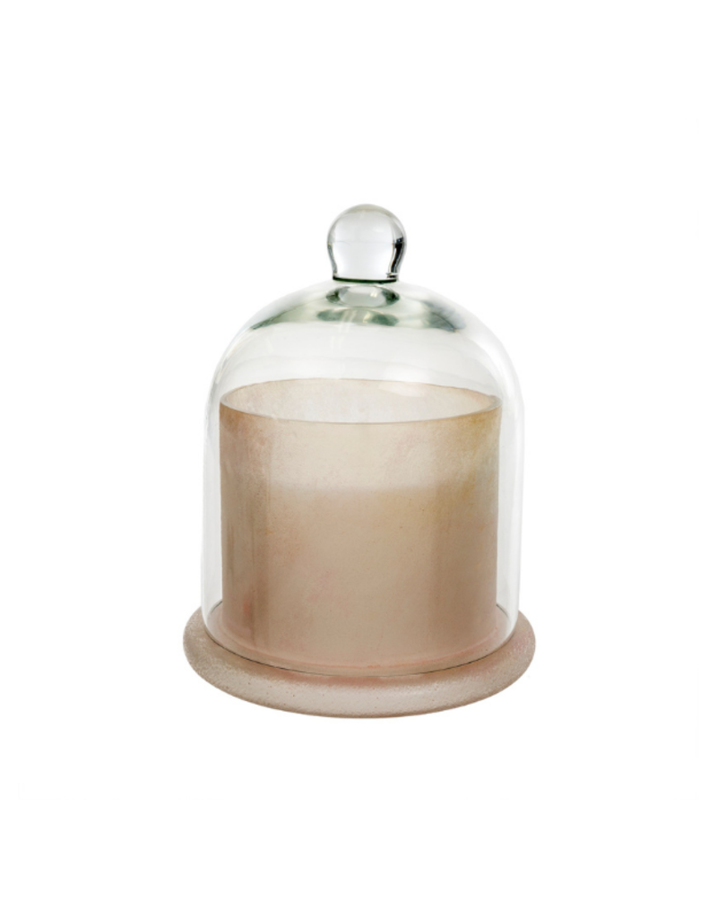 Indaba Trading Frosted White Cloche Candle