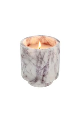 Indaba Trading White Marble Candle