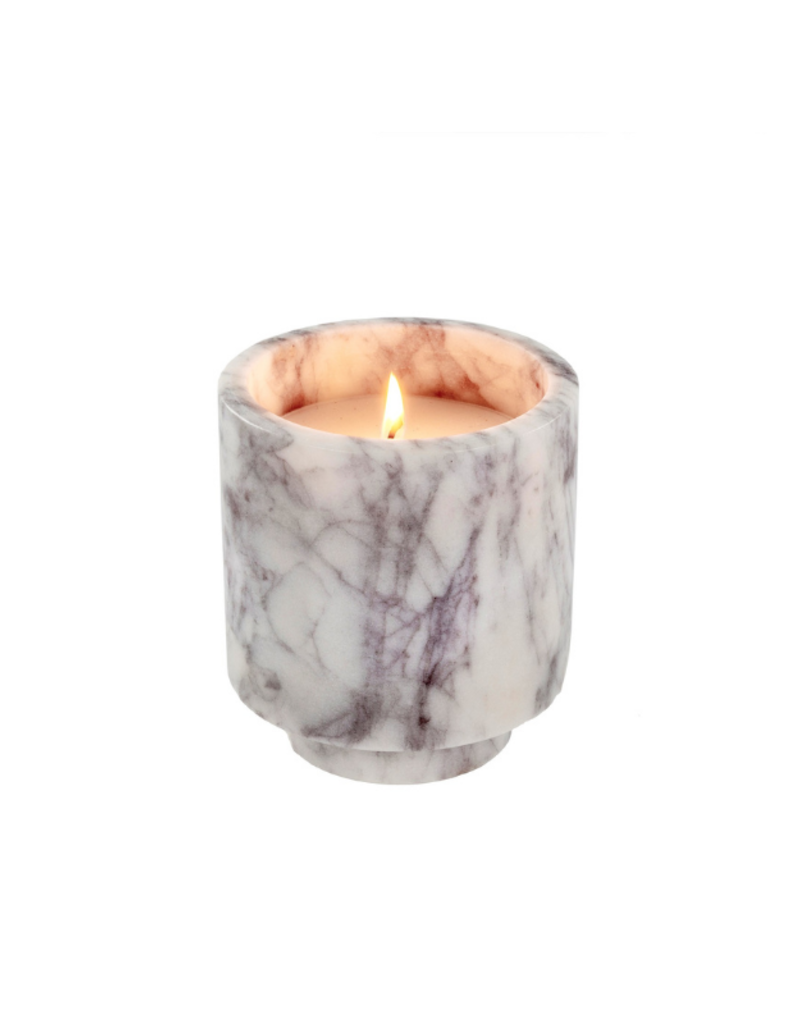 White Marble Candle