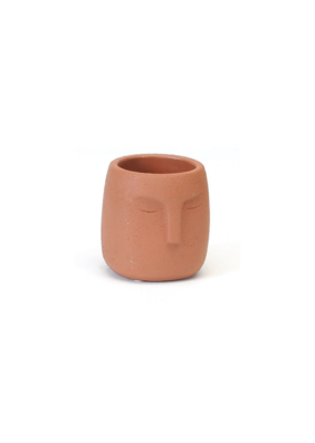Terracotta Face Planter Small