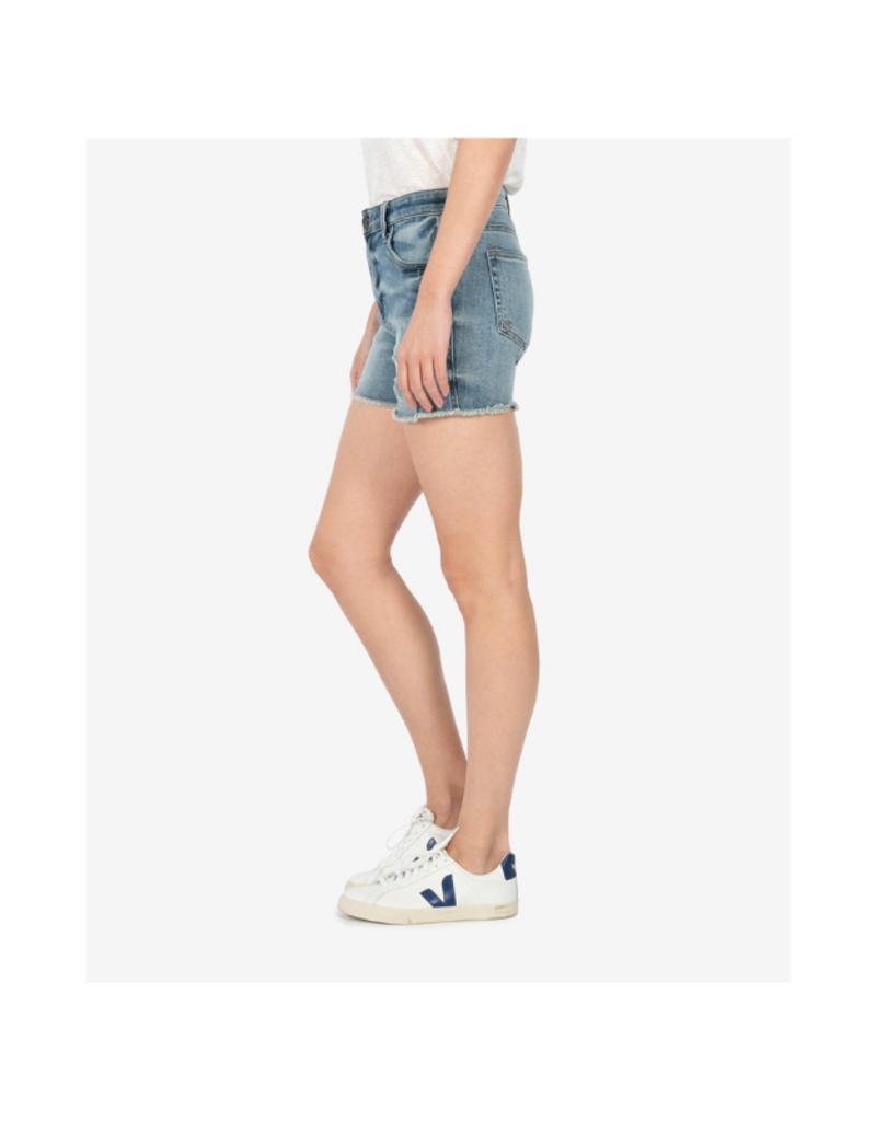 Kut from the Kloth Gidget High Rise Fray Short in Traveler Wash by Kut from the Kloth