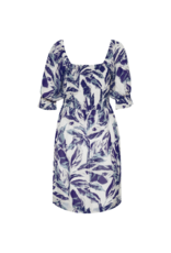 Part Two Ivalu Blue Palm Print Dress by Part Two