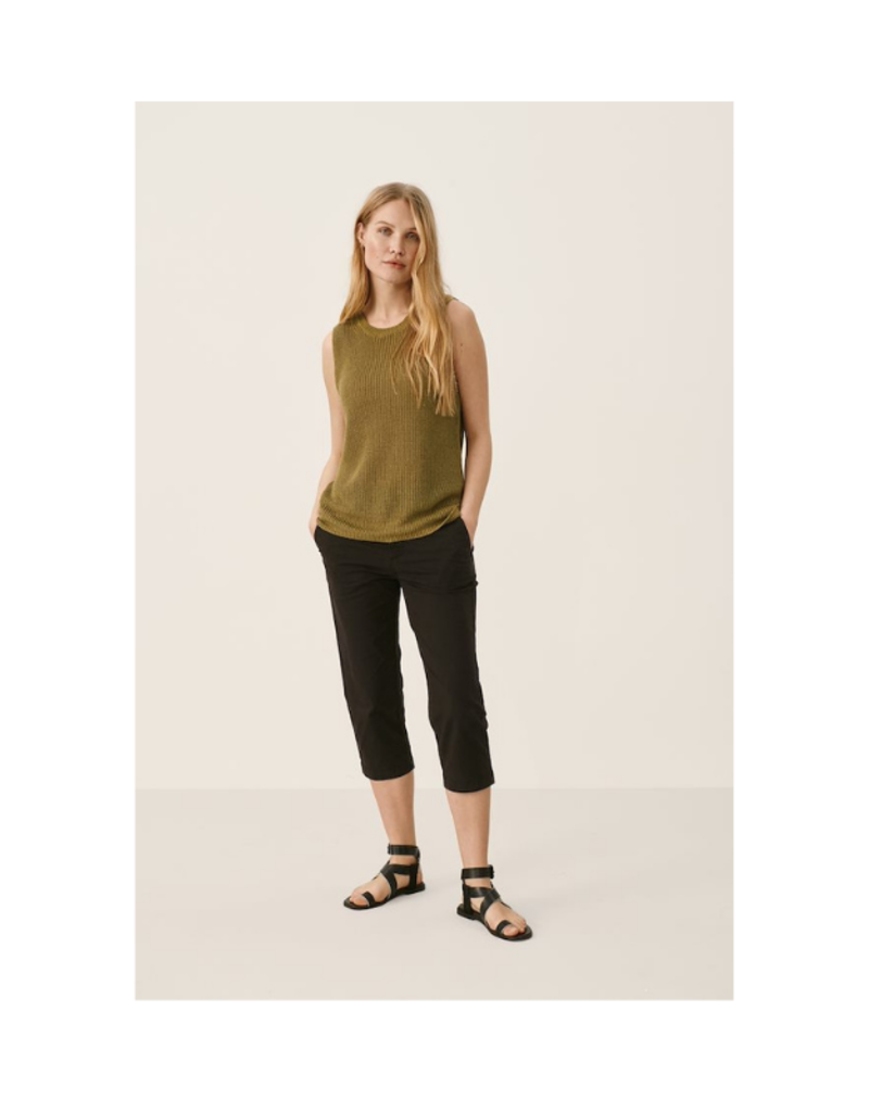 Part Two Inia Sleeveless Top in Olive by Part Two