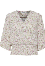 b.young Flaminia Smock Blouse in Pink Mix by b.young