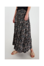 b.young Fiona Long Skirt in Black Mix by b.young
