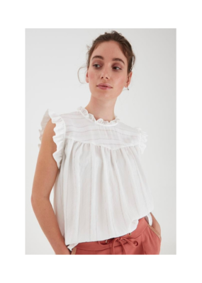b.young Immy Top in Off White by b.young