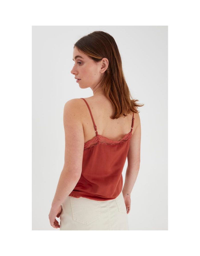 b.young Fie Cami Top in Etruscan Red by b.young