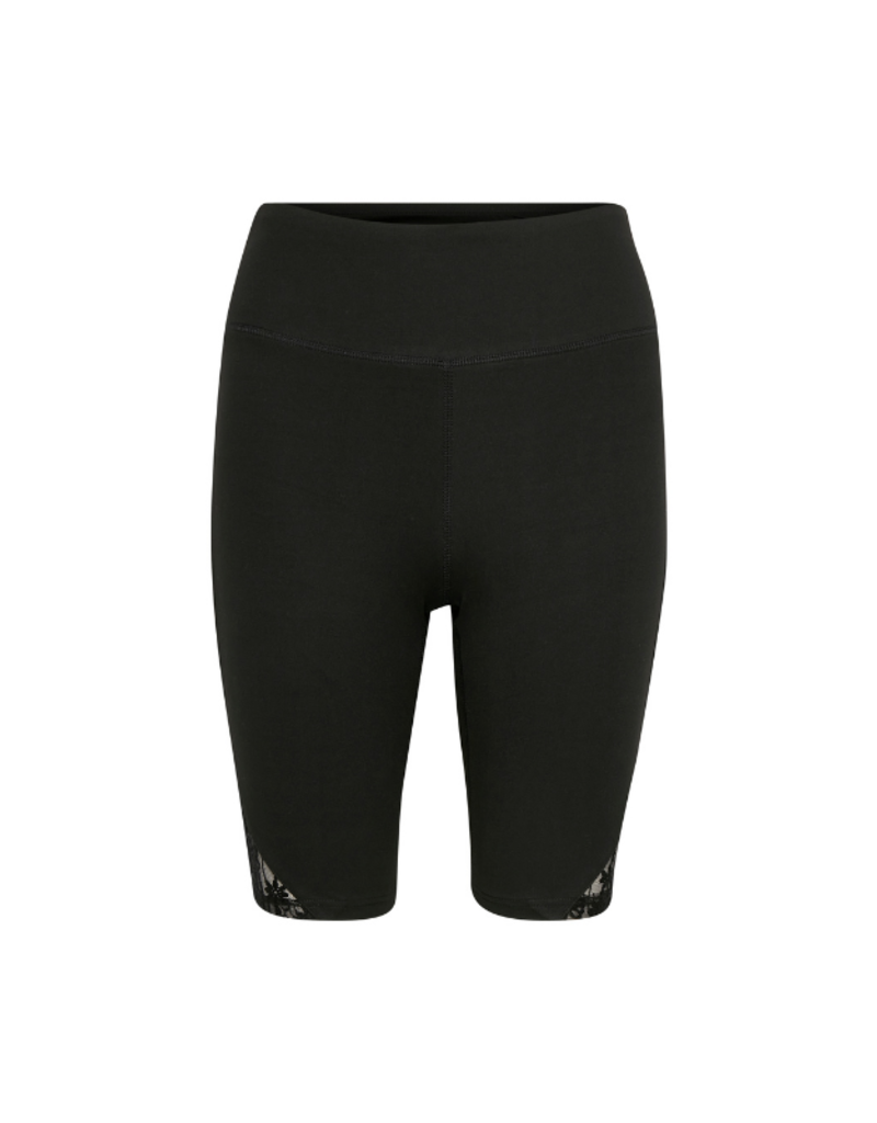 Cream Lay Biker Shorts in Black by Cream