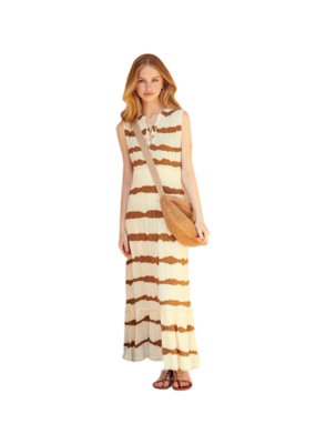 Leigh Dress in Gold Tiedye by Cream