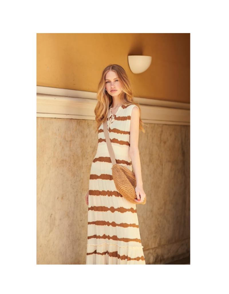 Cream Leigh Dress in Gold Tiedye by Cream