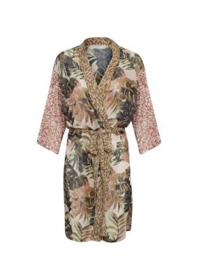 Anopo Kimono in Brown Palm Print by Cream