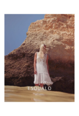 Beaded Embroidery Dress in White by EsQualo