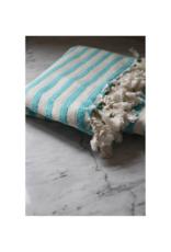 Turkish Towel in Zebra Bamboo Blue