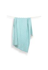 Pokoloko Turkish Towel in Zebra Bamboo Blue