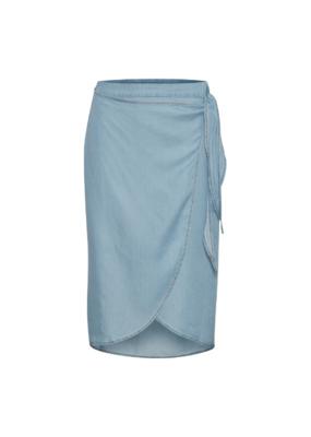 Cream Falusa Skirt in Soft Blue Denim by Cream
