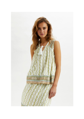 Olina Top in Green by Cream