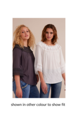 Bea Lace Blouse in Timber Wolf by Cream