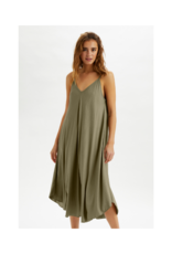 Line Dress in Timber Wolf by Cream