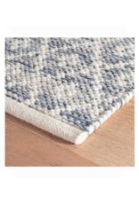 Dash & Albert Dash & Albert Melange Diamond Blue Woven Cotton 2.5' x 8'