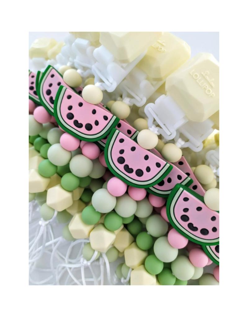 LouLou Lollipop LouLou Lollipop Darling Pacifier Clip in Watermelon
