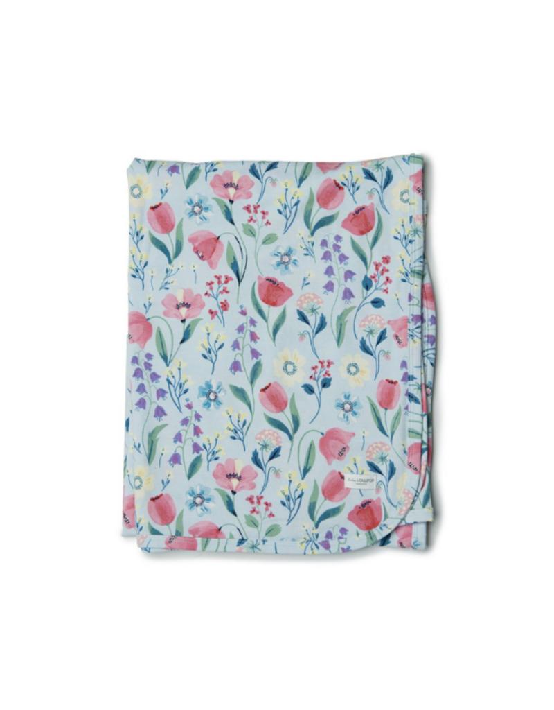 LouLou Lollipop LouLou Lollipop Stretch Knit Tencel Blanket in Bluebell