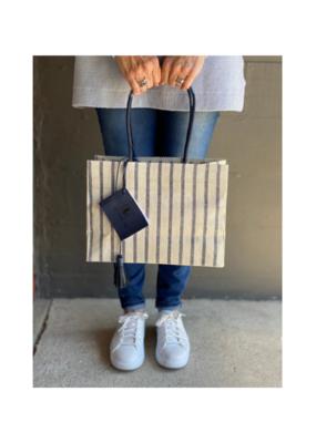 Brave Brown Bag Nantucket Madi Bag in Indigo Stripe by Brave Brown Bag