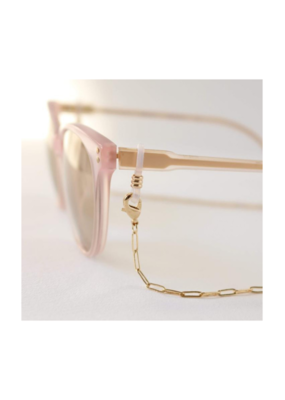 Lover's Tempo Glasses & Mask Chain in Charlie Gold by Lover's Tempo