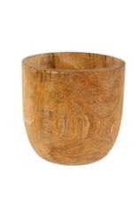 Indaba Trading Mango Wood Egg Pot Large