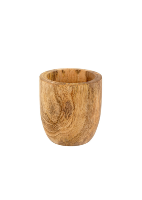Indaba Trading Mango Wood Egg Pot Small