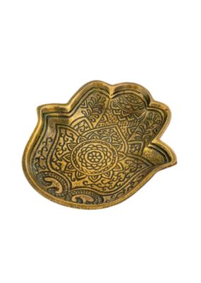 Indaba Trading Gold Hamsa Hand Tray